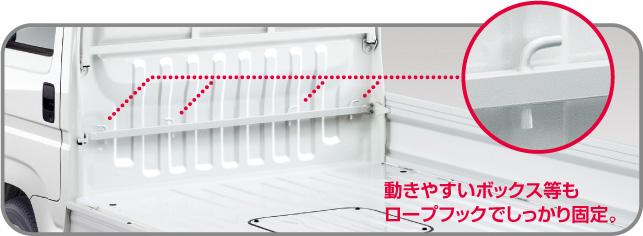 HONDA ホンダ ACTY TRUCK アクティ トラック ホンダ純正 荷物固定バー タフタホワイト (2015.10~仕様変更)( 08L30-TP8-011A )  