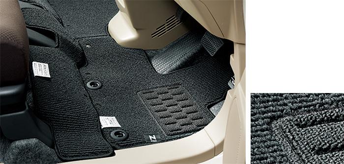 HONDA ホンダ NWGN N-WGN エヌワゴン ホンダ純正 フロアカーペットマット プレミアム ブラック 2016.6~仕様変更 08P15-E7W-020 || JH1 JH2 NWGNカスタム N-WGNカスタム Nワゴン フロアマット 車種別 カーマット 床 車 高品質 上質 交換 フロア カー マット 車種専用 車内