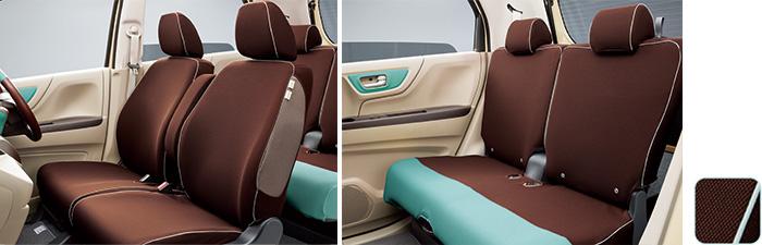 HONDAホンダ NWGN N-WGNエヌワゴン ホンダ純正 シートカバー 運転席ハイトアジャスター装備無し車/あんしんパッケージ装備車用 2016.6~次モデル08P32-E3E-BB0A||