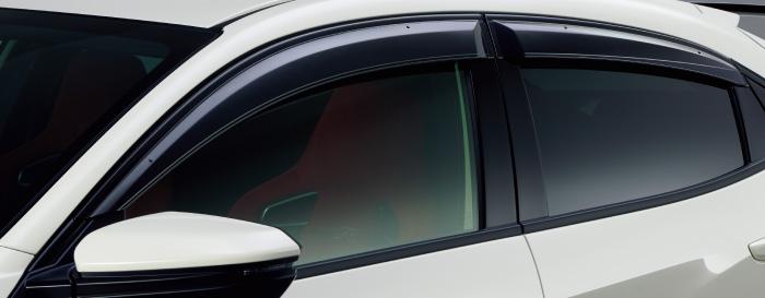 HONDA ホンダ 純正 CIVIC typeR シビック タイプR ドアバイザー 2017.7~仕様変更 08R04-TGH-000 || ドア バイザー 雨 雨よけ 後付け 取り付け 交換 部品 パーツ