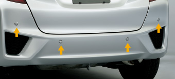 HONDA ホンダ 純正 FIT フィット リアコーナーセンサー&バックソナー 本体 PブルーオパールM (2016.11~仕様変更) 08V67-T5A-0K0K||