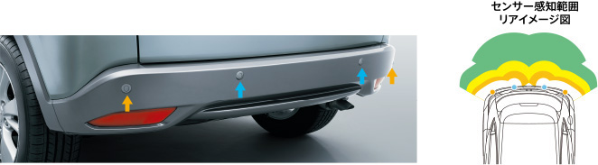 HONDA ホンダ VEZEL ヴェゼル ホンダ純正 リアコーナーセンサー&バックソナー 本体 ガンメタリック塗装 [2016.3~次モデル][ 08V67-T7A-0Z0K ]||