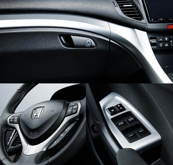 HONDA ホンダ Accord アコード ホンダ純正 インテリアパネル9点セット メタル調(ライトメタル)【 2011.2~次モデル】||