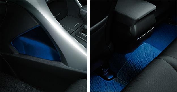 HONDA ホンダ Accord アコード ホンダ純正 コンソール&リアフットライト/ブルー照明【 2011.2~次モデル】 || ライト 車 内装 室内 イルミネーション イルミ 後付け 照明 アクセサリー
