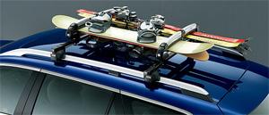 HONDA ホンダ ACCORD アコード ホンダ純正 キャリアシステム スキー/スノーボードアタッチメント(ロック付) ガルウイングタイプ【 2012.04~次モデル】||