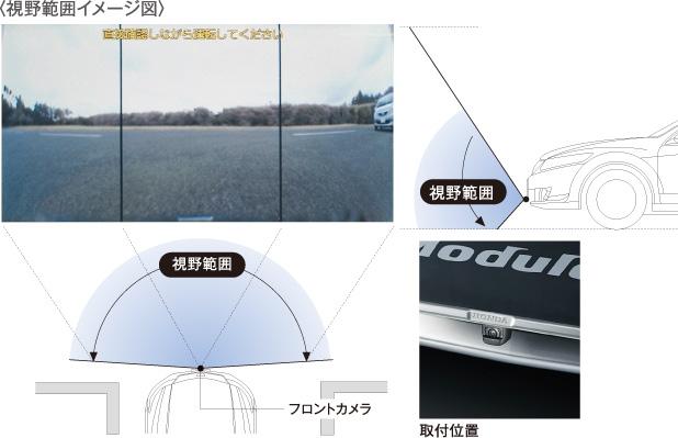 HONDA ホンダ ACCORD アコード ホンダ純正 フロントカメラシステム 本体+コントロールユニット+取付アタッチメント【 2012.04~次モデル】||