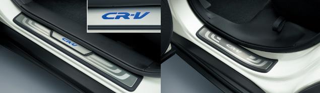 HONDA ホンダ CR-V ホンダ純正 LEDサイドステップガーニッシュ(フロント用LEDイルミネーション付フロント/リア左右4枚セット)【 2011.11~次モデル】||