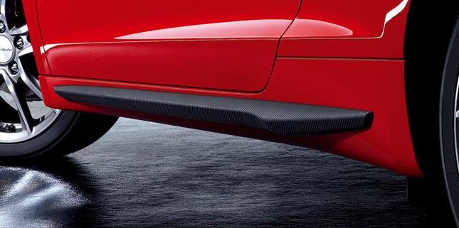 HONDA ホンダ CR-Z ホンダ純正 スポイラー(サイド/カーボン調、左右セット) 【 2010.02~2011.06】||