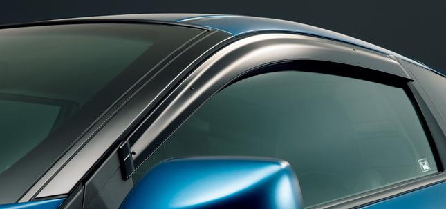 HONDA ホンダ CR-Z ホンダ純正 ドアバイザー(左右2枚セット)【 2011.07~次モデル】 || ドア バイザー 雨 雨よけ 後付け 取り付け 交換 部品 パーツ