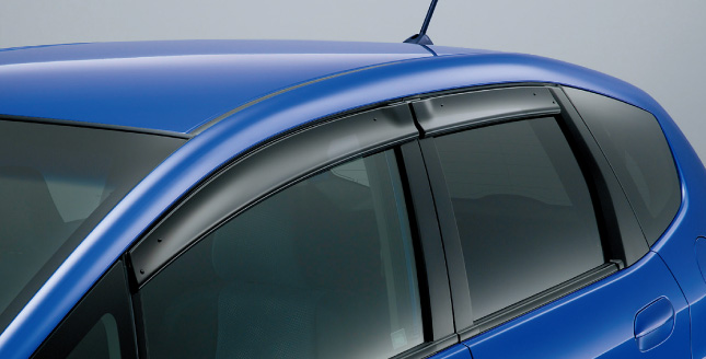 HONDA ホンダ FIT フィット ホンダ純正 ドアバイザー(エアロデザインタイプ)【 2012.05~次モデル】 || ドア バイザー 雨 雨よけ 後付け 取り付け 交換 部品 パーツ