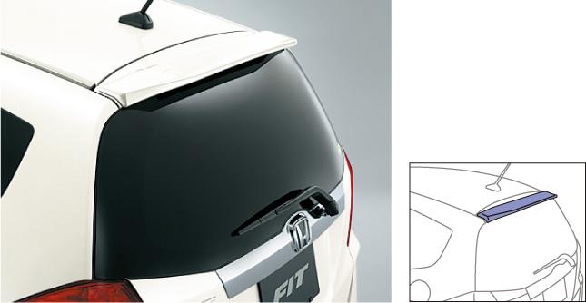 HONDA ホンダ FIT フィット ホンダ純正 テールゲートスポイラー(小型タイプ) 【 2013.01~次モデル】||