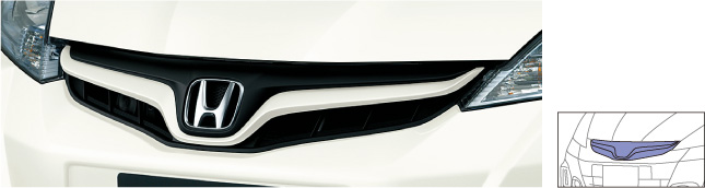 HONDA ホンダ FIT フィット ホンダ純正 フロントグリル(カラードタイプ)【 2013.01~次モデル】||