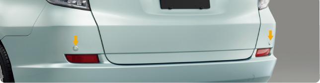 HONDA ホンダ FITSHUTTLE フィットシャトル ホンダ純正 リアコーナーセンサー本体(カラードタイプ)+取付アタッチメント【 2011.6~次モデル】||
