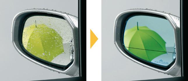 HONDA ホンダ FREED フリード ホンダ純正 アクアクリーンミラー(親水式ドアミラー)ブルー・左右セット ヒーテッドドアミラー装備無し車用【 2010.11~2011.9】||