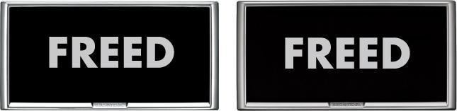 HONDA ホンダ FREED フリード ホンダ純正 ライセンスフレーム(フロント用/リア用:メッキ/カラード)+ナンバープレートロックボルト【 2011.10~2012.3】 || ナンバーフレーム ナンバープレートリム 車 ナンバー 枠 おしゃれ かっこいい アクセサリー パーツ