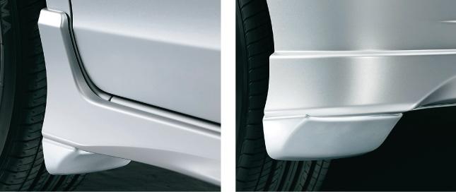 HONDA ホンダ FREED フリード ホンダ純正 マッドガード フロント/リアセット Gエアロ/Hybrid/Hybridジャストセレクション用 【 2012.04~次モデル】 || 泥除け車 飛び石 車体保護 かっこいい 部品 パーツ