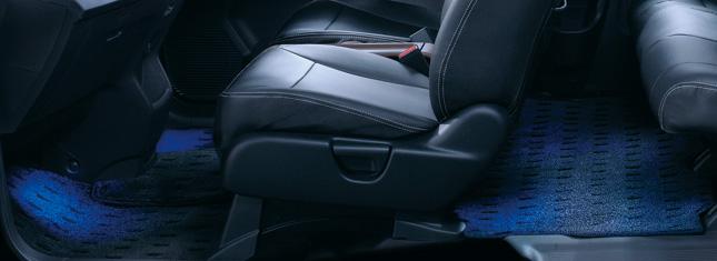 HONDA ホンダ FREED Spike フリード スパイク ホンダ純正 フットライト/リヤ LEDブルー照明(左右セット)【 2012.04~次モデル】 || ライト 車 内装 室内 イルミネーション イルミ 後付け 照明 アクセサリー