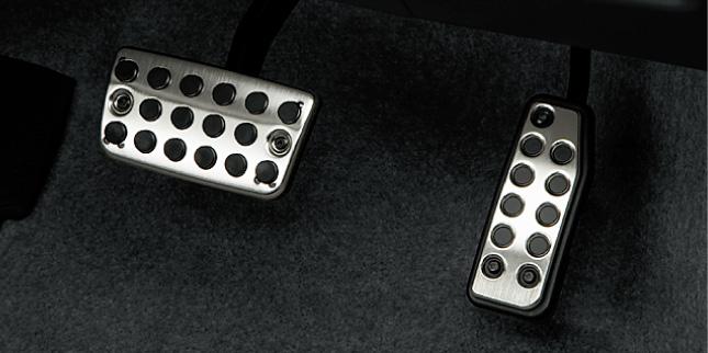 HONDA ホンダ INSIGHT インサイト ホンダ純正 スポーツペダル(クロームシルバー/マットシルバー) 2010.10~2011.9||