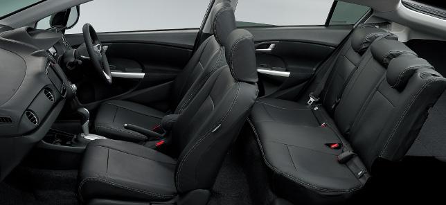 HONDA ホンダ INSIGHT インサイト ホンダ純正 シートカバー フルタイプ 革調(ブラック)運転席ヒーター付 2011.10~次モデル||