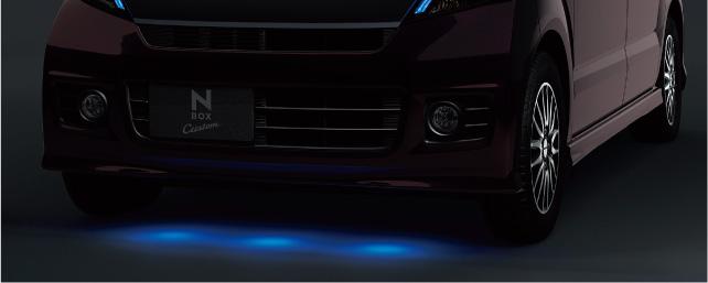 HONDA ホンダ 純正 NBOX N-BOX エヌボックス グランドイルミネーション LEDブルー照明/スモールライト連動 2012.12~2013.11||
