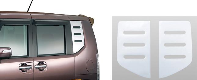 HONDA ホンダ 純正 NBOX N-BOX エヌボックス デカール クォーターウインドウ (厚さ約1mm/樹脂製/左右2枚セット) 2012.12~2013.11||