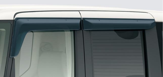 HONDA ホンダ 純正 NBOX N-BOX エヌボックス ドアバイザー(フロント・リア用/左右4枚セット) 2013.12~次モデル || ドア バイザー 雨 雨よけ 後付け 取り付け 交換 部品 パーツ