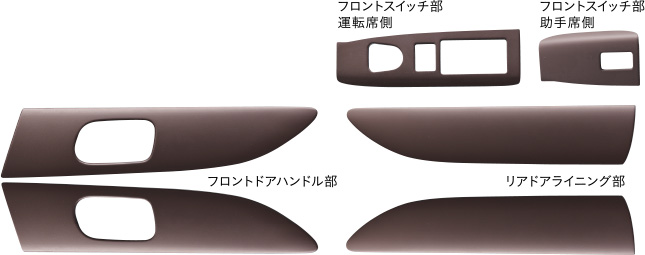 HONDA ホンダ NBOX+ N-BOX+ plus エヌボックスプラス ホンダ 純正 インテリアパネル(ブラウン) 2012.12~2013.11||