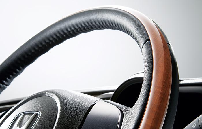HONDA ホンダ NONE N-ONE エヌワン ホンダ純正 ウッディテイストパッケージ ステアリングガーニッシュ装備車用 2015.7~次モデル||