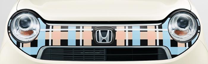 HONDA ホンダ NONE N-ONE エヌワン ホンダ純正 デカール フロントグリル ガーリッシュチェック 2015.7~次モデル||