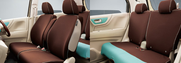 HONDA ホンダ NWGN N-WGN エヌワゴン ホンダ純正 シートカバー フルタイプ (ファブリック/ミント) 2013.11~次モデル||