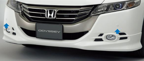 HONDA ホンダ ODYSSEY オデッセイ ホンダ純正 センサー(超音波感知システム) フロント Moduloエアロバンパー用(4センサー)本体+取付アタッチメント 2011.10~次モデル||