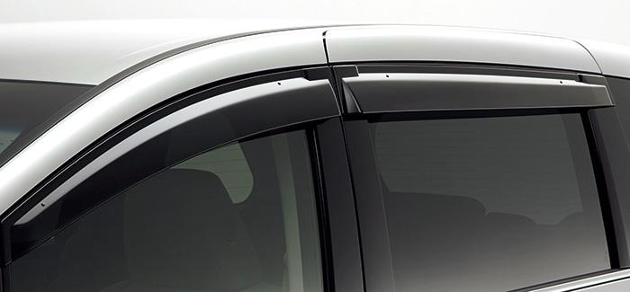 HONDA ホンダ ODYSSEY オデッセイ ホンダ純正 ドアバイザー フロントドア/リアスライドドア用 左右セット 2013.10~次モデル || ドア バイザー 雨 雨よけ 後付け 取り付け 交換 部品 パーツ