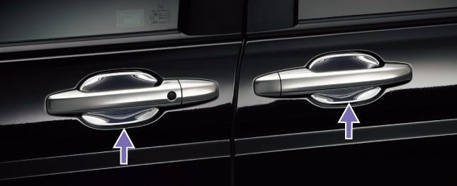 HONDA ホンダ STEPWGN ステップワゴン ホンダ純正 ドアハンドルプロテクションカバー フロント/リア 4枚セット【 2012.04~次モデル】||