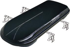 HONDA ホンダ STEPWGN ステップワゴン ホンダ純正 ルーフボックス(ロック付)〈ブラック〉【 2014.10~次モデル】||