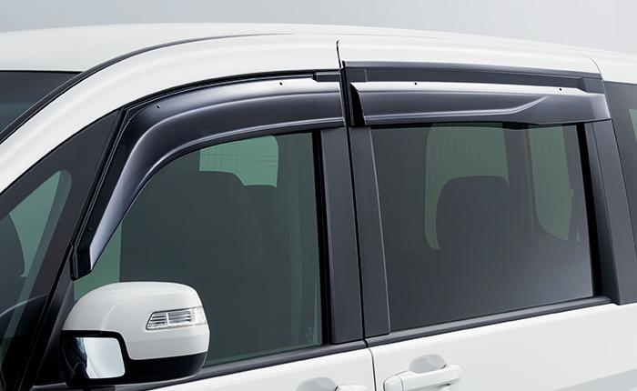 HONDA ホンダ STEPWGN ステップワゴン ホンダ純正 ドアバイザー(フロント・リア用/左右4枚セット) 【 2015.4~次モデル】 || ドア バイザー 雨 雨よけ 後付け 取り付け 交換 部品 パーツ