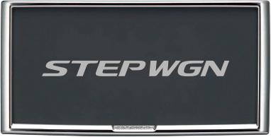 HONDA ホンダ STEPWGN ステップワゴン ホンダ純正 ライセンスフレーム(フロント・リア用)+ナンバープレートロックボルトのセット 2015.4~次モデル    ナンバーフレーム ナンバープレートリム 車 ナンバー 枠 おしゃれ かっこいい アクセサリー パーツ
