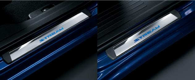 HONDA ホンダ STREAM ストリーム ホンダ純正 サイドステップガーニッシュ(LEDイルミネーション ブルー照明 STREAMロゴ付 フロント/リア4枚セット)【 2012.04~次モデル】||