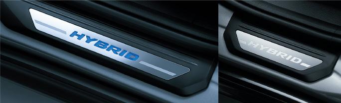 HONDA ホンダ VEZEL ヴェゼル ホンダ純正 サイドステップガーニッシュ(フロント用LED〈ブルー〉イルミネーション付〈ドア開閉連動〉) フロント・リア用左右4枚セット【 2013.12~次モデル】||