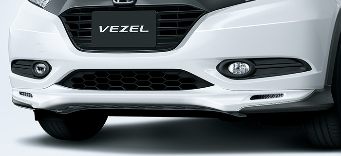 HONDA ホンダ VEZEL ヴェゼル ホンダ純正 エアロバンパー(フロント用/LEDアクセサリーライト付〈イグニション連動〉) ブラック用【 2014.10~次モデル】||