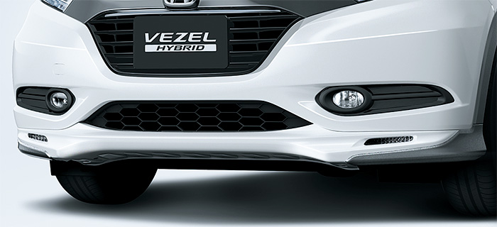 HONDA ホンダ VEZEL ヴェゼル ホンダ純正 エアロバンパー(フロント用/LEDアクセサリーライト付〈イグニション連動〉) カラードタイプ用【 2014.10~次モデル】||