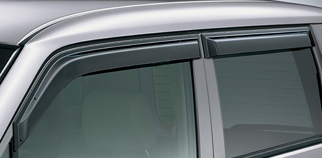 HONDA ホンダ ZEST ゼスト ホンダ純正 ドアバイザー フロント / リア 4枚 セット 【 2010.06~2011.01】 || ドア バイザー 雨 雨よけ 後付け 取り付け 交換 部品 パーツ