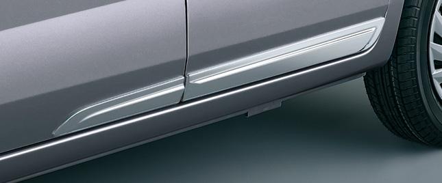 HONDA ホンダ ZEST ゼスト ホンダ純正 ドアアンダートリム クロームメッキ フロント/リア 4枚セット【 2011.02~次モデル】||