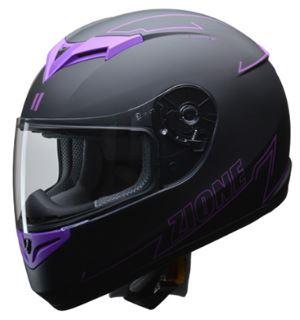 LEAD リード工業 ZIONE フルフェイスヘルメット パープル Lサイズ | フルフェイス ヘルメット ヘルメ かっこいい バイク おすすめ 原付 シールド インナー あごひも ワンタッチ 交換 全排気量 黒 ブラック リード バイク用品 内装 紫 おしゃれ 通勤 ポイント消化