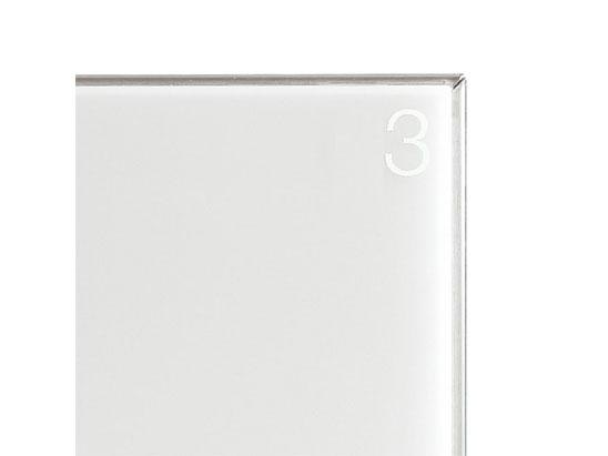 NASTA ナスタ ボックスナンバー プライベートボックス用 ブランド品 KS-PW1 開店祝い シリーズ ボックス おしゃれ 1ケタ白 H15 シンプル ナンバー