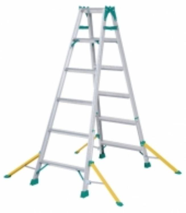 ピカコーポレーション PiCa アウトリガー付き はしご兼用脚立 NDA セーフリガー 1.68 NDA-180   脚立 ピカ 折りたたみ アルミ 工事 照明 用品 はしご 脚立 プロ 職人 整備 洗車 DIY