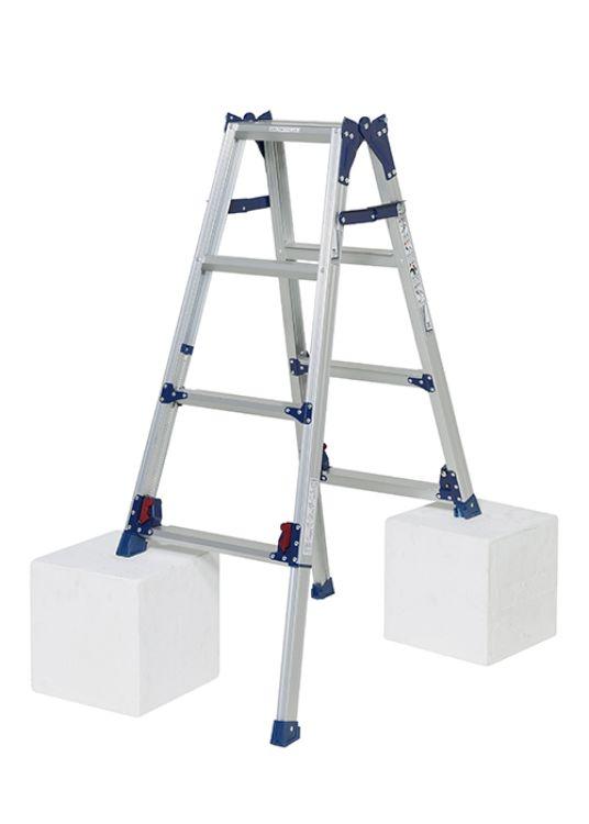 ピカコーポレーション PiCa 四脚アジャスト式はしご兼用脚立 スタンダードタイプ SCL 0.94~1.25 SCL-120A   脚立 ピカ 折りたたみ アルミ 工事 照明 用品 はしご 脚立 プロ 職人 整備 洗車 DIY
