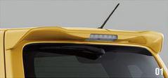 SUZUKI スズキ 純正 WAGONR ワゴンR ルーフエンドスポイラー シルキーシルバーメタリック (2017.2~仕様変更) 99110-63R00-Z2S||