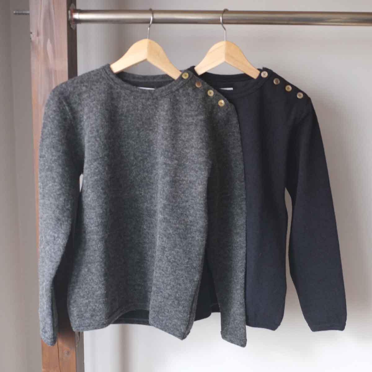 【定価13,200円】 Re made in tokyo japan アールイー Iceland Wool Button Basque アイスランドウールボタンバスク 2 colors