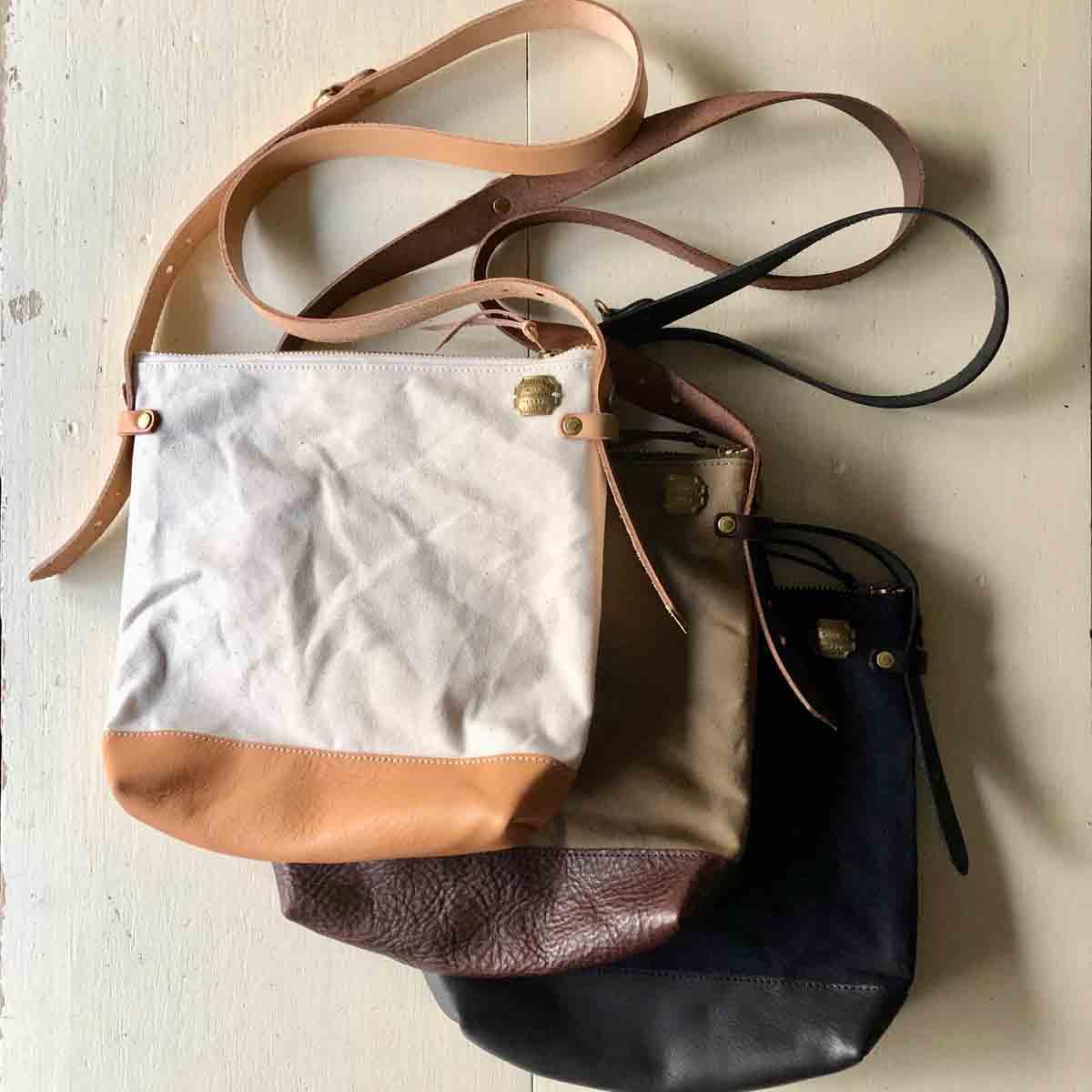 The Superior Labor シュペリオールレイバー leather bottom shoulder bag deep S レザーボトムショルダーバッグディープS 3 colors
