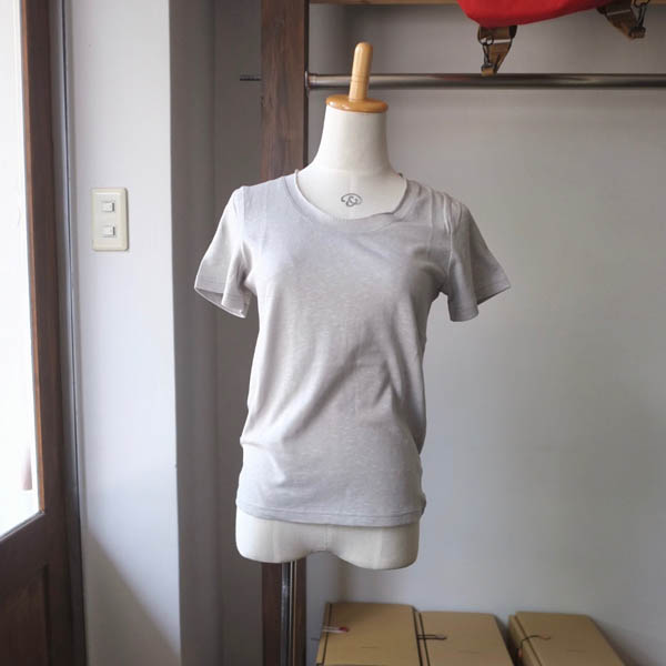 SARAXJIJI サラジジ R-cotton ラフコットン U-neck CS-R Short Sleeve gray